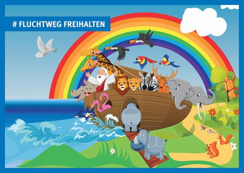 Postkarte Fluchtweg Web